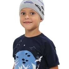 Soft knit boys hat with graphic pattern