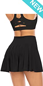 Pleated Tennis Skirts for Women with Pockets Shorts Athletic Golf Skorts