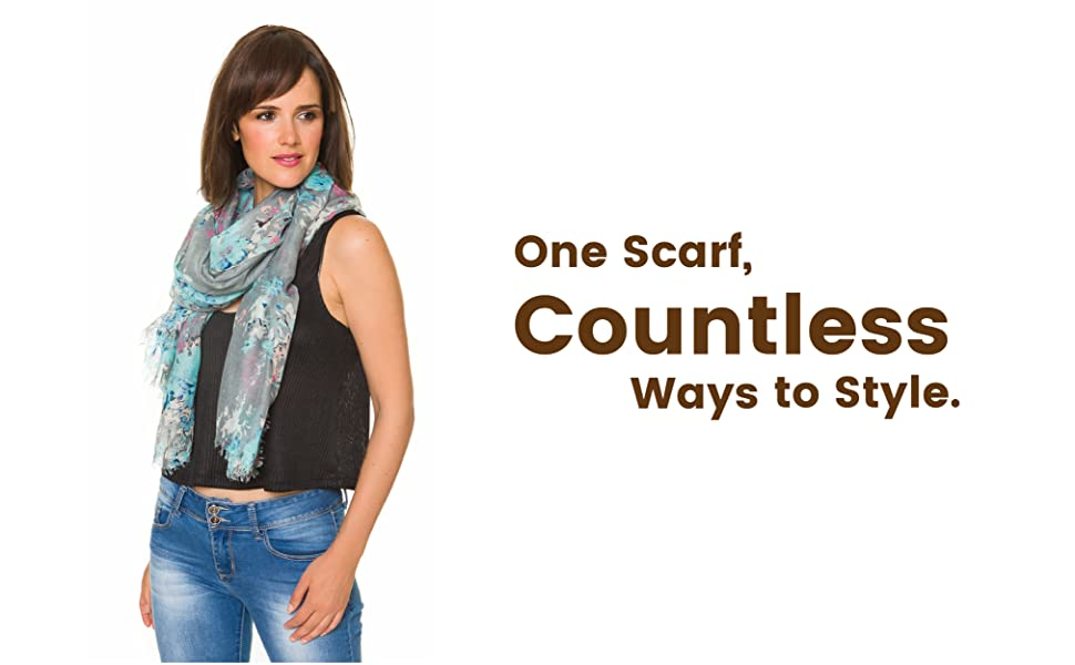 scarfs for womenScarf for Women Lightweight Floral Flower Scarves for Fall Winter Shawl Wrap