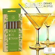 summer cocktail straws