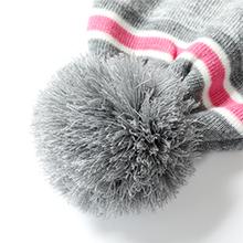 Bequemer Laden Kinder Baby Winterm/ütze Gestreifte Pompon Beanie M/ütze und Schal Handschuhe Strickset f/ür Jungen M/ädchen mit Thermal Fleece Futter
