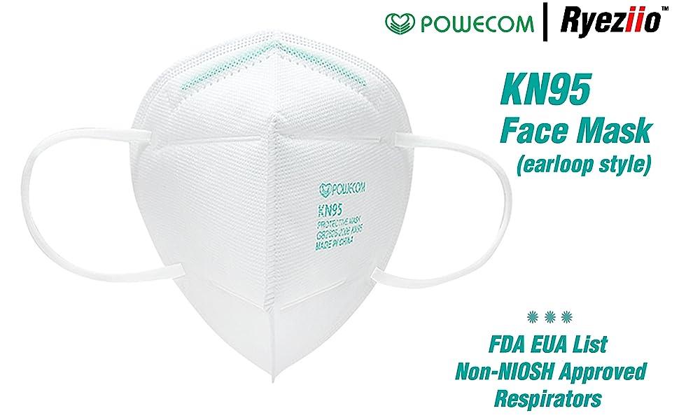 Ryeziio KN95 Disposable Face Masks