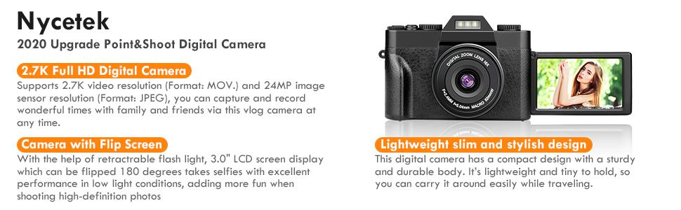 16X Zoom 2.7k 30mp Digital Camera Vlogging Camera