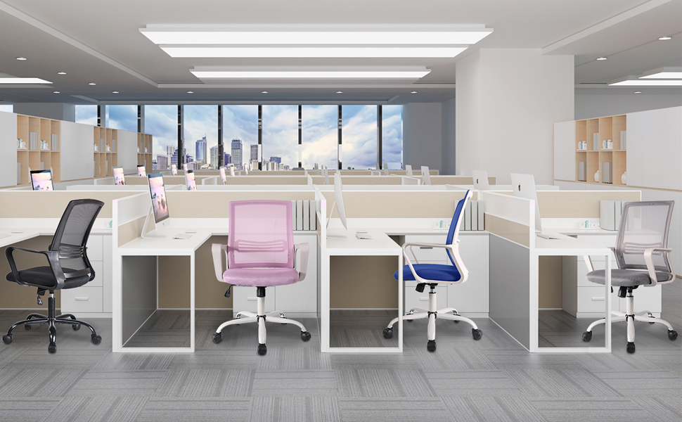 office chairs in office