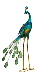 Solar Peacock Decor