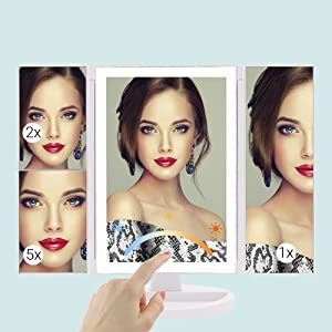Led makeup mirror touch sensor switch