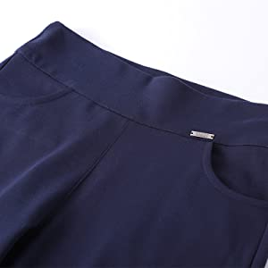 yoga dress pants with two front pockets