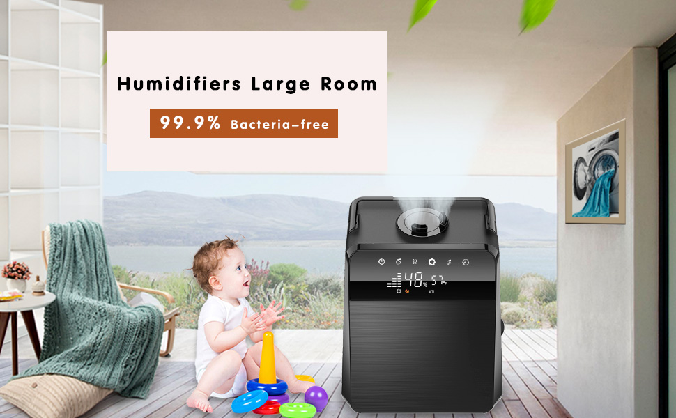 Customized Humidity 5.5L Warm and Cool Mist Ultrasonic Humidifiers for Bedroom Baby TTLIFE Ionic Humidifiers Large Room Germ Free Night Light Ultra Quiet Vaporizer with essential oils and Remote