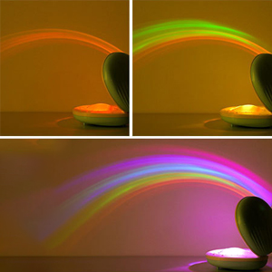 Rechargeable Shell-Shaped Rainbow Projector