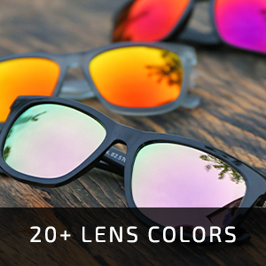 20+ lens color options available
