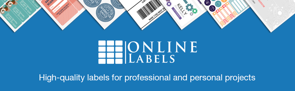 online labels create custom designs prints printable adhesive shipping product labels