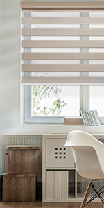latte zebra day and night dual layer roller blind