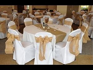 jute chair bow sash for wedding