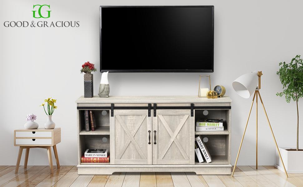 bedroom tv stand,living room tv stand,mid century tv stand,barn door tv stand