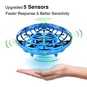 flying ufo drone infrared sensor hand control for kids children