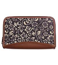 ikat wave chain wallet for women