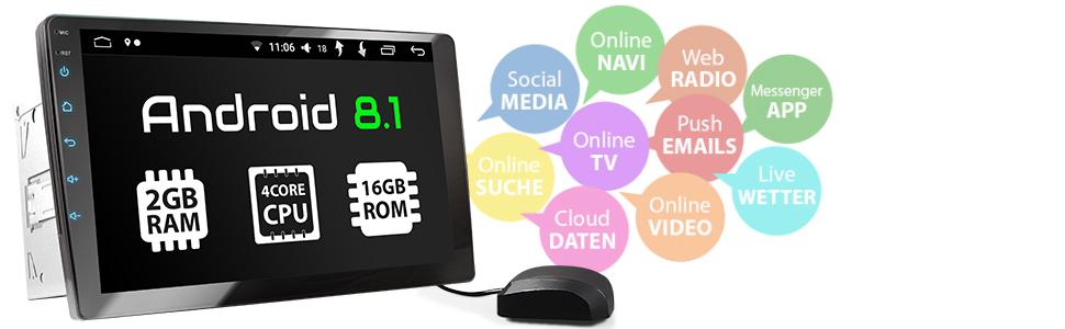 XOMAX XM-2VA1001 Android 8.1 Radio de coche con GPS 10