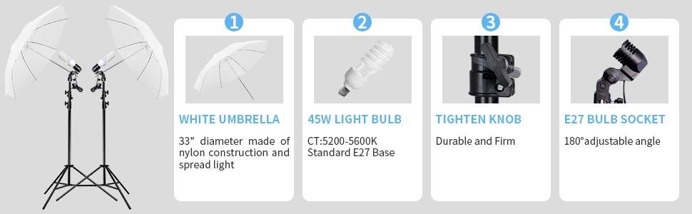 umbrella lighting continuouslighting photography softboxkit softbox lightingphotography lighting kit