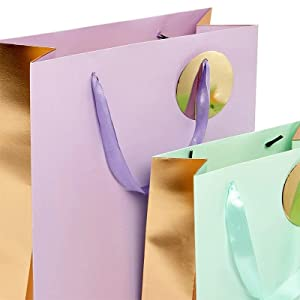 Multicolor PaperMart bags