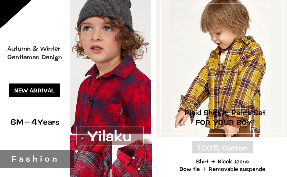 Toddler Boy Outfits Gentleman Suits Bow Ties Shirts + Suspenders Pants Outfits Suits Sets