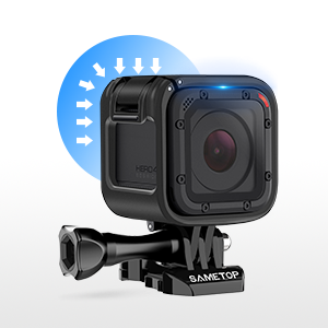 Sametop Frame Mount Housing Case Compatible with GoPro Hero 5 Session, Hero 4 Session, Hero Session Cameras