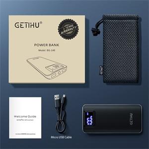 GETIHU 10000mAh LED дисплей мощност банка