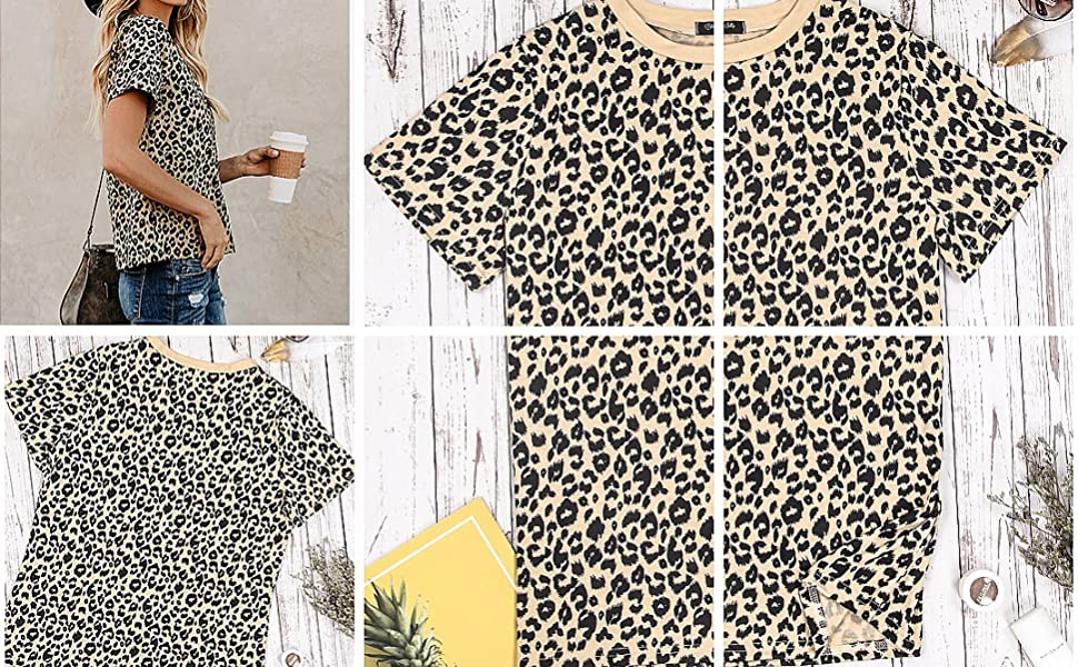leopard print top for women
