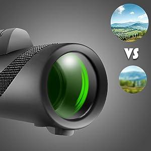 Objective lens diameter: 42mm