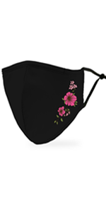 Adult Reusable, Washable Cloth Face Mask With Filter Pocket - Simple Floral