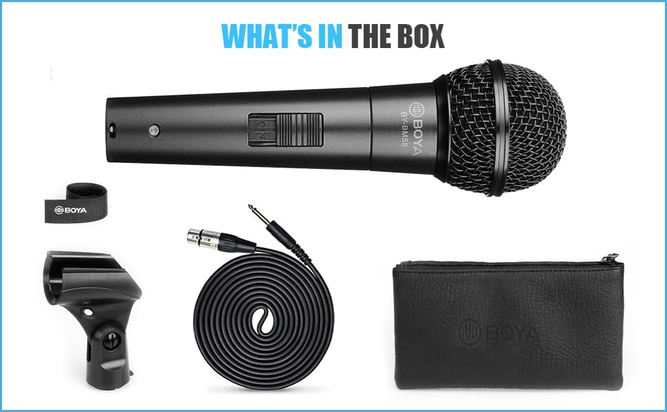boya handheld XLR dynamic microphone