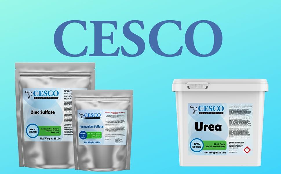 Cesco fertilizer zinc sulfate ammonium sulfate urea