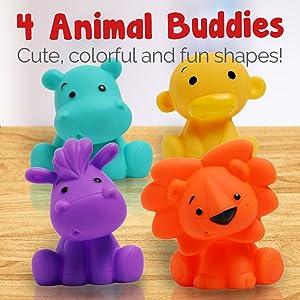 4 animal shape friends