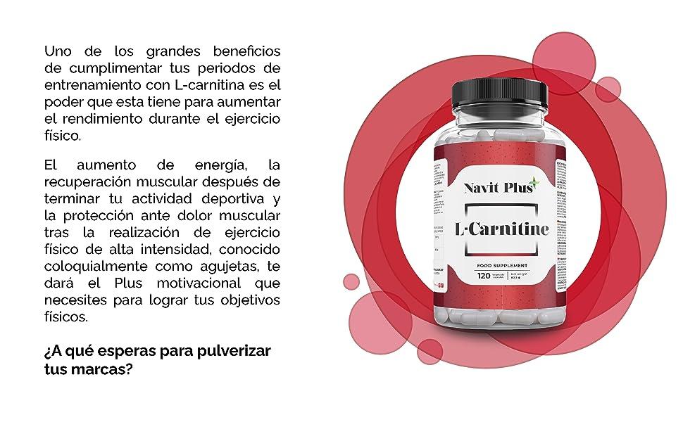 L-CARNITINA PURA   Pérdida de peso y potente quemador de grasa deportivo   Código Nacional Farmacia 194556.3   Aporte de energía, resistencia y ...