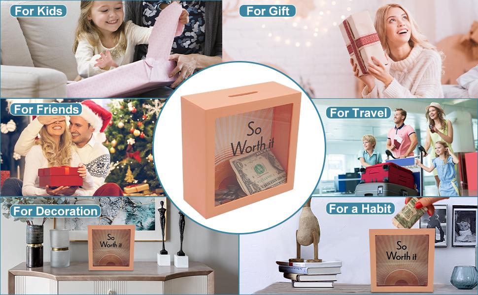 TFER  piggy kids money bank for adult teenger money saving jar saver box gift student young bank
