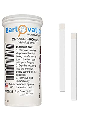 Chlorine Test plastic Vial of 100 Strips day care chlorine 1000 chl ch