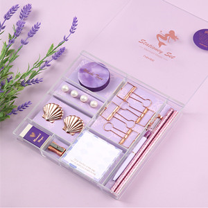 mermaid purple memo sticky note pads sticky notes stationery for women desk supplies