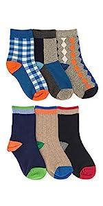 Jefferies Socks Boys Pattern Rib School Uniform Crew Socks 6 Pack