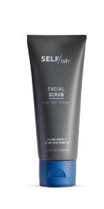 SELF/ish mens facial scrub active acid vitamin boost for mens skin exfoliating blackheads smoothing