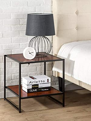 zinus bedside table