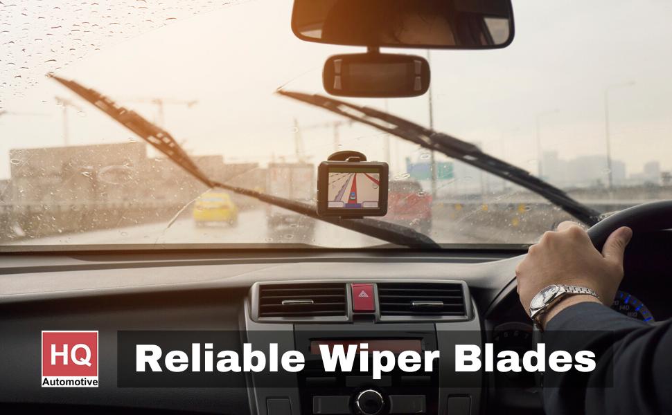 Front /& Rear kit of genuine HQ Automotive Aero Flat Wiper Blades AD91-421 HQ14D