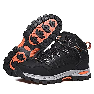 Walking Boots Mens Womens Waterproof Hiking Shoes for Winter Snow