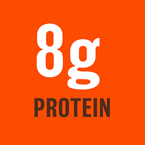 8g of per serving of protein pbfit peanut butter powder