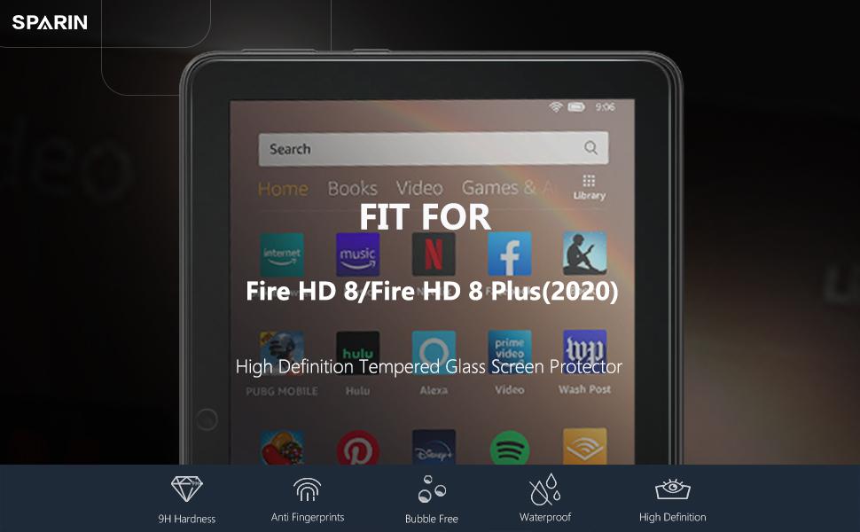 fire hd 8 screen protector