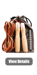 leather jump rope, gold