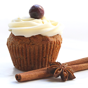 Gingerbread cupcakes made with Swerve