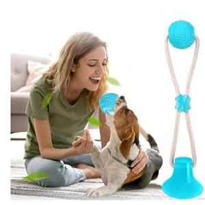 interaktives Hundemolar-Kauspielzeug,Zahnreinigungsspielzeug Multifunktion Pet Molar Biss Spielzeug