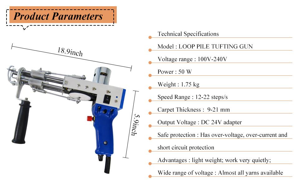 máquina de tufting de la pila del lazo