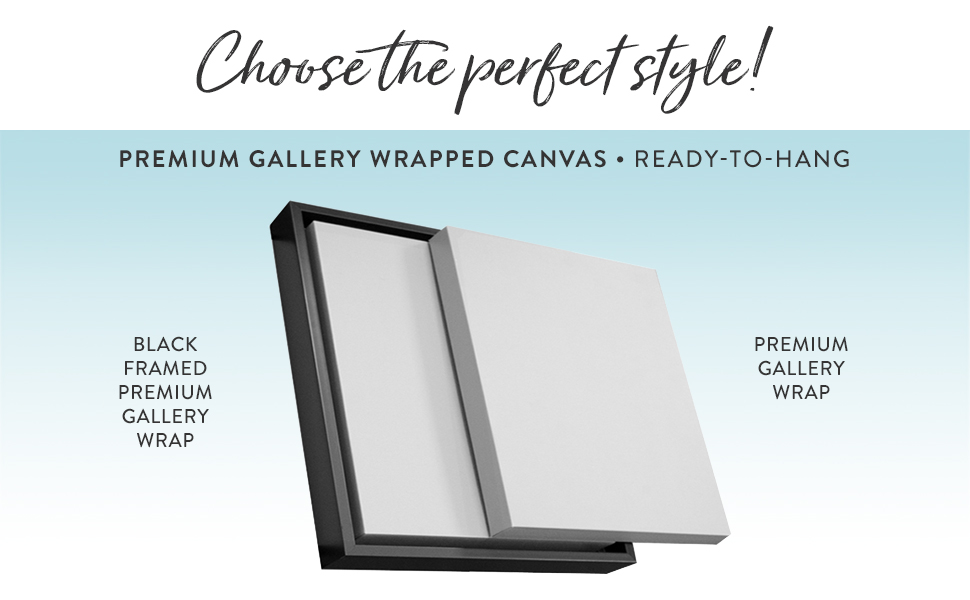canvas wall art frames option