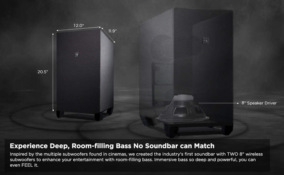 """Dual 8"""" Wireless Subwoofers"""