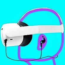Oculus Quest 1 and Oculus Quest 2 Headphones